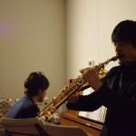 ピアノとサックスセッション